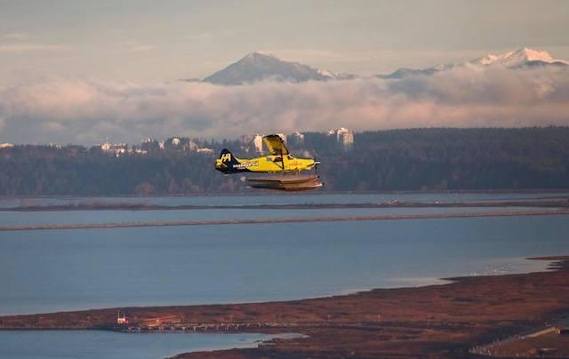 Harbour Air Seaplanes elektriske fly på den første flyvning. Foto: Harbour Air Seaplanes