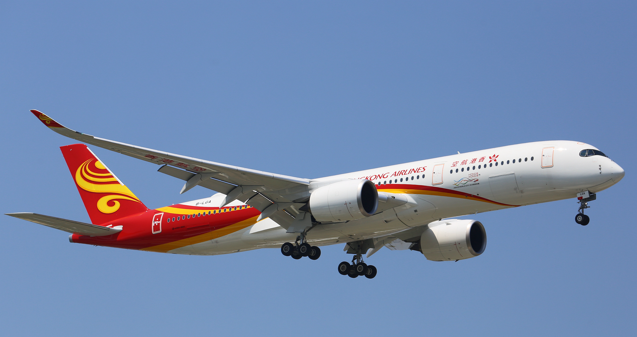 En Airbus A350-900 fra Hong Kong Airlines. Foto: 湯小沅, CC 2.0
