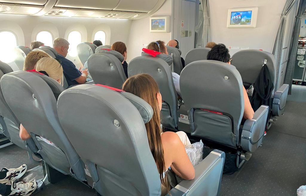 Premium-kabinen i Norwegians Boeing 787-8 Dreamliner. (Foto: Jens Henrik Nybo)