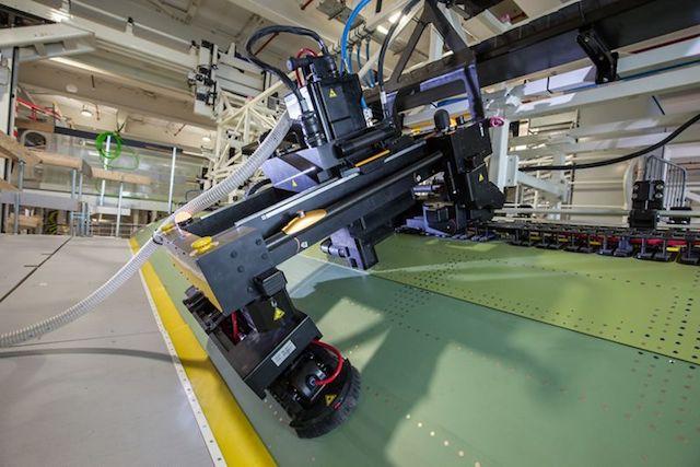 MTM Robotics-system i brug hos Airbus. Foto: Airbus
