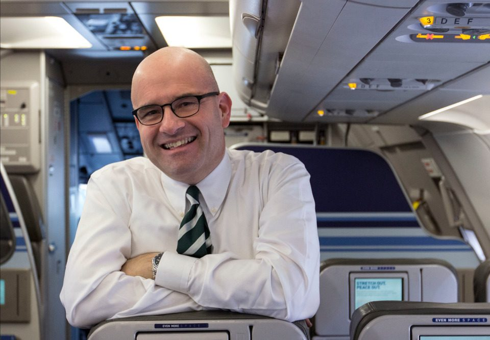 Marty St. George kommer fra JetBlue Airways til en ny stilling som kommerciel direktør i Norwegian. Foto: JetBlue Airways