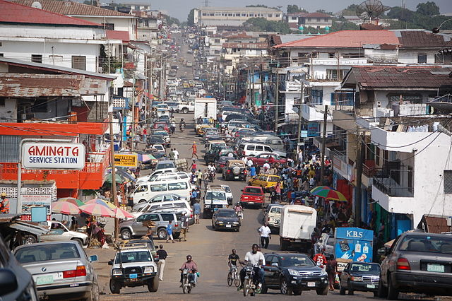 Monrovia i Vestafrika. Foto: Wikimedia Commons