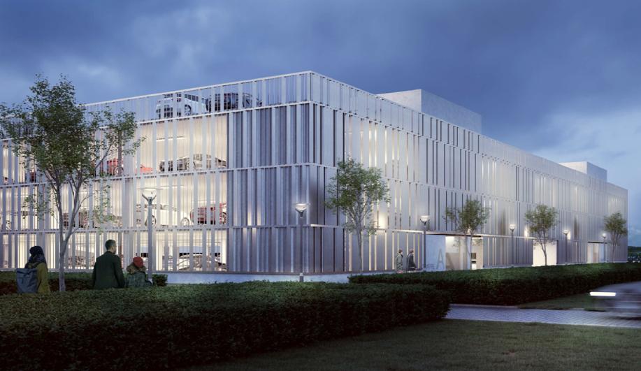 Nyt parkeringshus i Billund Lufthavn vil stå færdigt i efteråret 2020. (Foto: Billund Lufthavn | PR)
