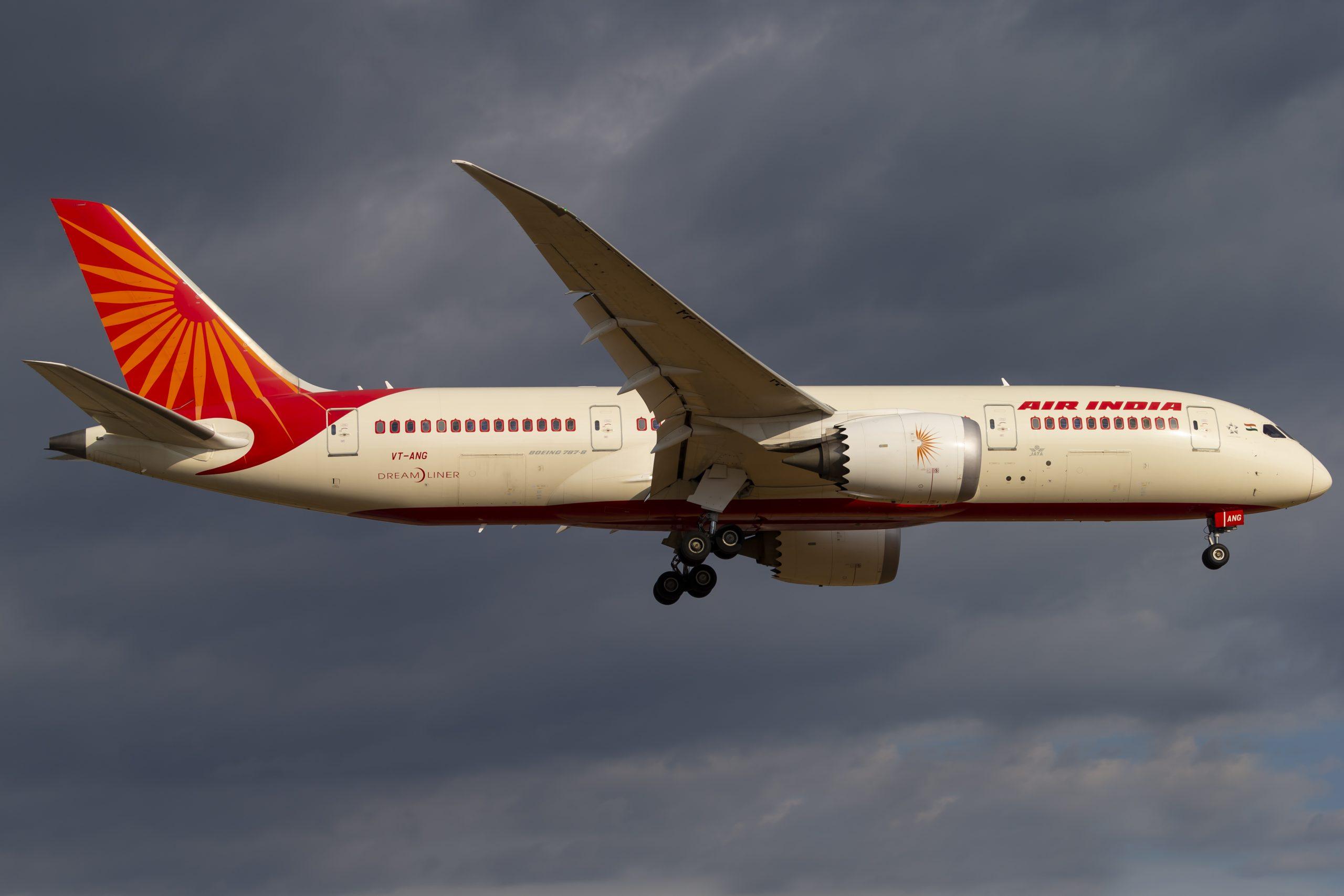 En Boeing 787-8 Dreamliner fra Air India. Foto: © Thorbjørn Brunander Sund, Danish Aviation Photo