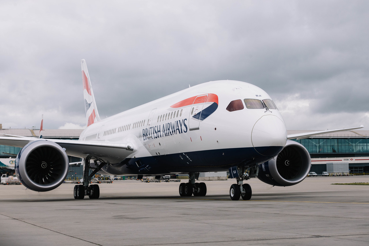 En Boeing 787-8 Dreamliner fra British Airways. Foto: Stuart Bailey/British Airways