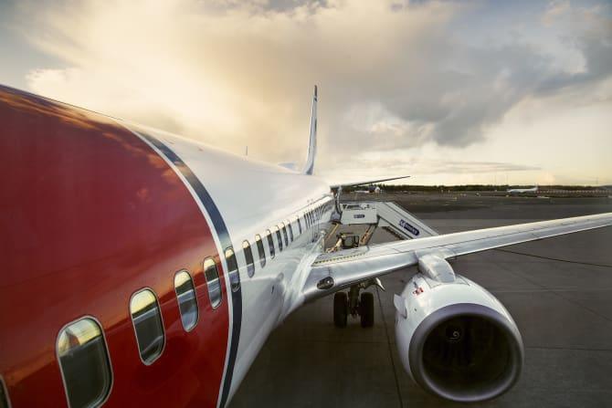 Norwegian tilbyder fremover sine passagerer at kompensere for deres CO2-udledning. Foto: Norwegian