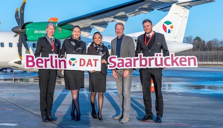 Der var store smil ved indvielsen af DAT-ruten fra Berlin til Saarbrücken. (Foto: FBB | PR)