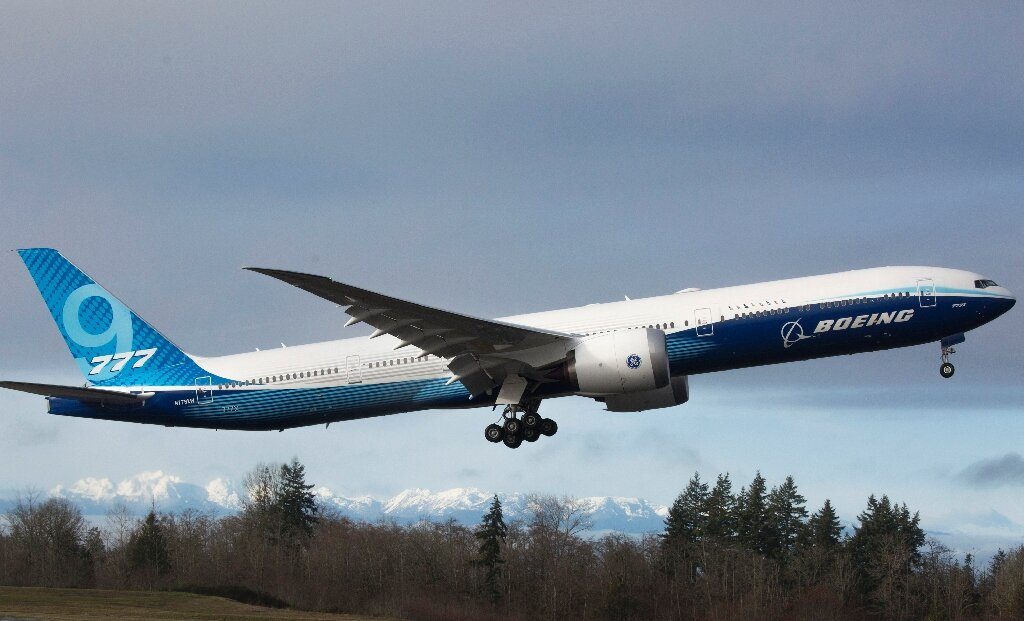 Første flyvning med Boeing 777X den 25. januar 2020. (Foto: Boeing | PR)