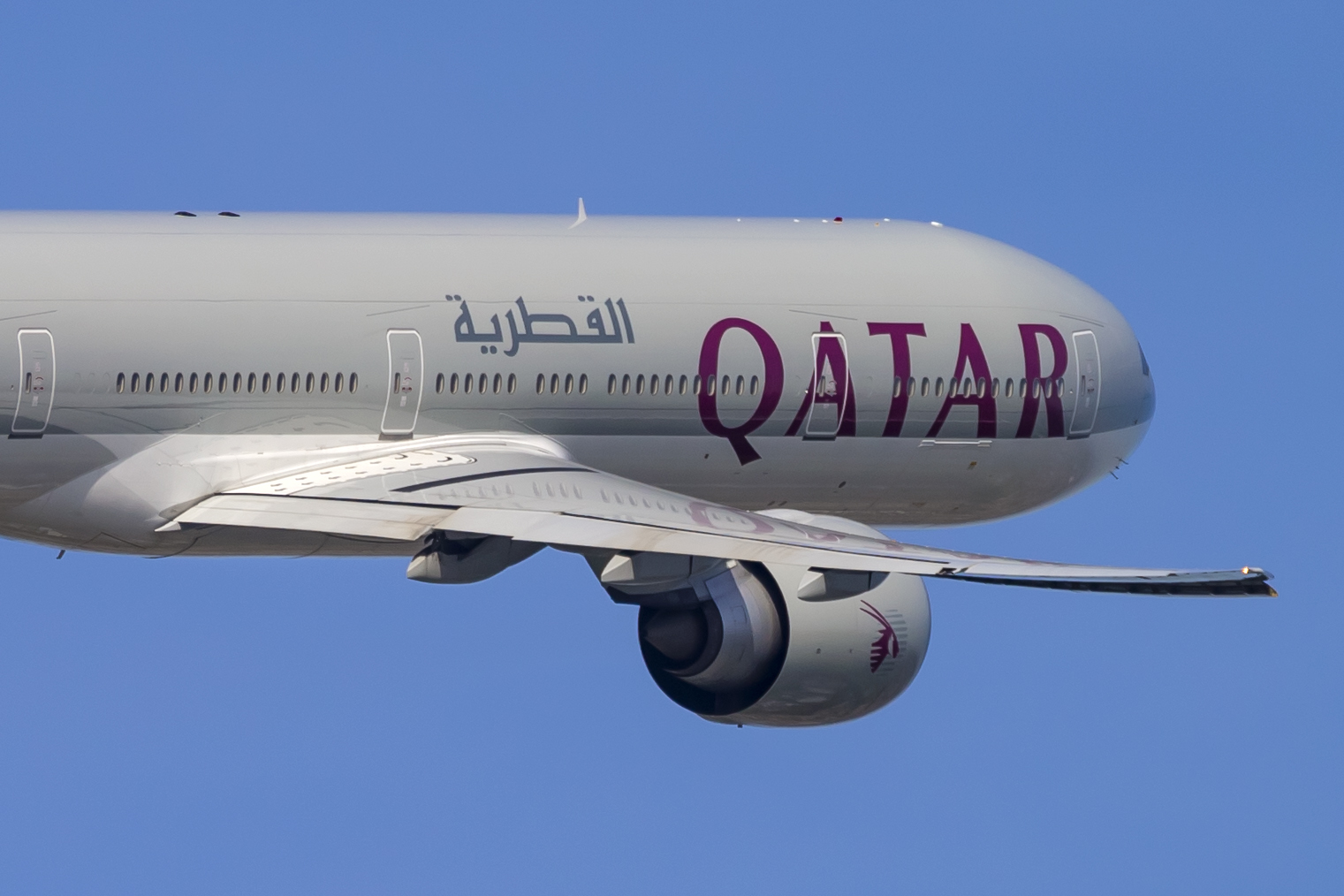 En Boeing 777-300ER fra Qatar Airways. Foto: © Thorbjørn Brunander Sund, Danish Aviation Photo