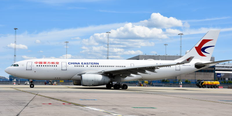 Airbus A330-200 fra China Eastern Airlines i Stockholm Arlanda. (Foto: Swedavia | Søren Andersson)