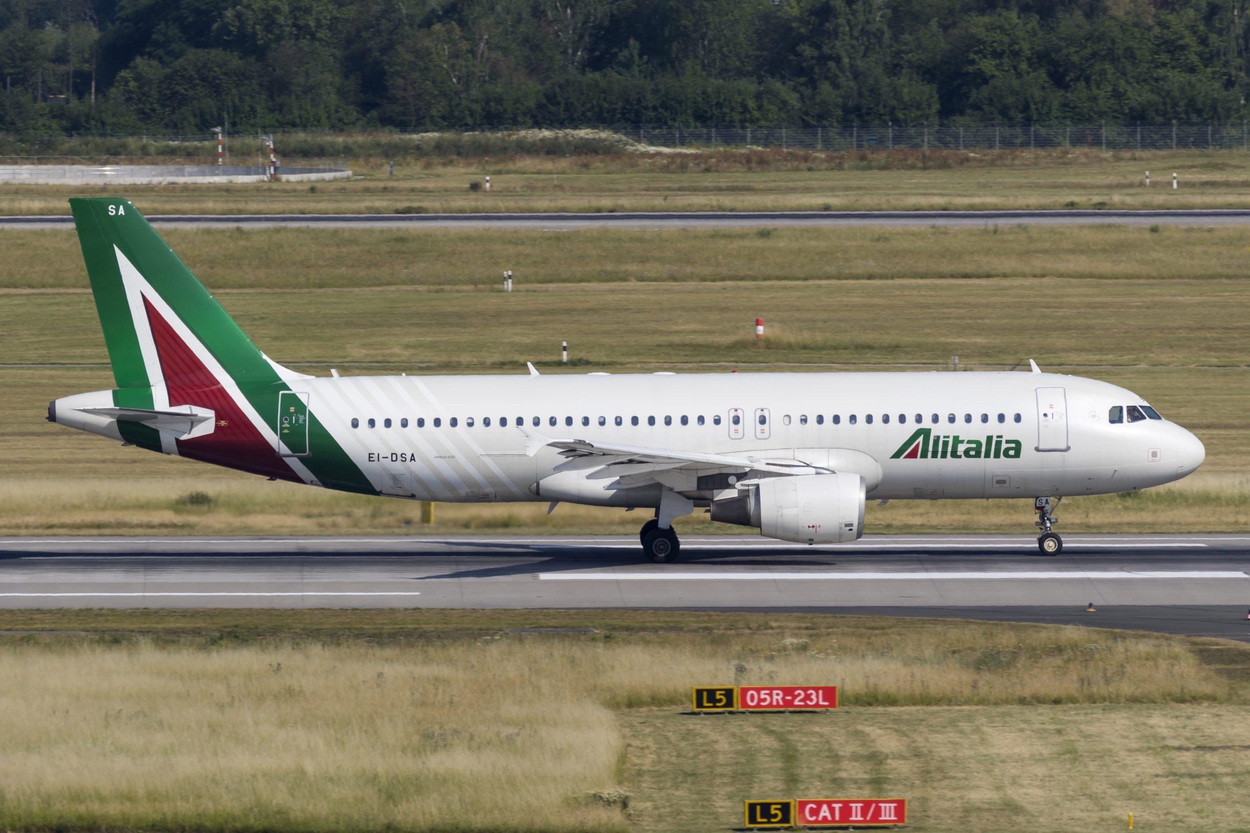 En Airbus A320-200 fra Alitalia. Foto: © Thorbjørn Brunander Sund, Danish Aviation Photo