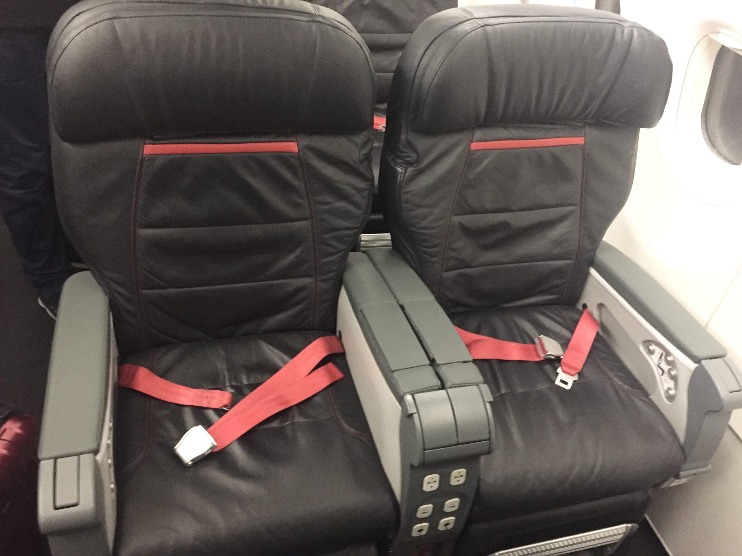God sædekomfort på Business Class i A321'eren hos Turkish Airlines. Foto: Danny Longhi Andreasen