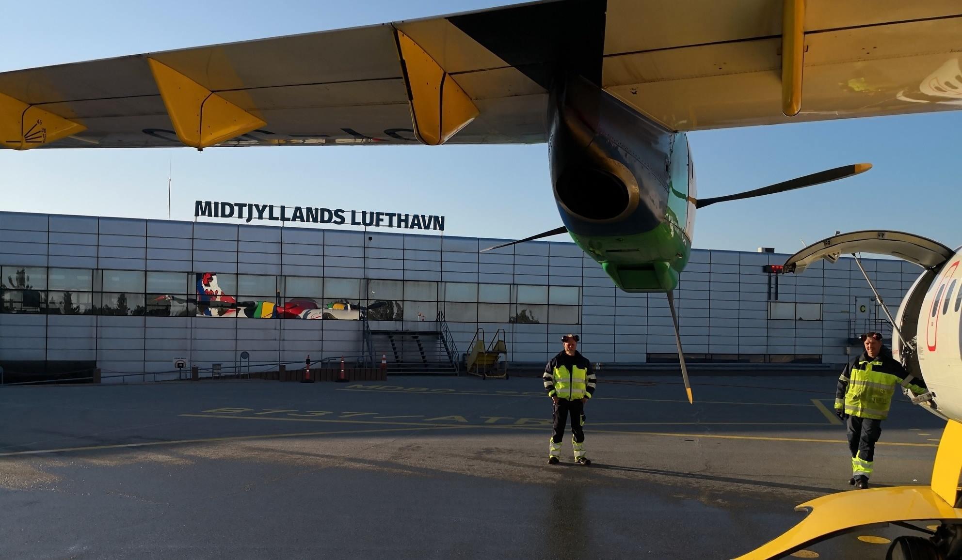 Forpladsen i Midtjyllands Lufthavn. (Foto: Midtjyllands Lufthavn | Facebook)