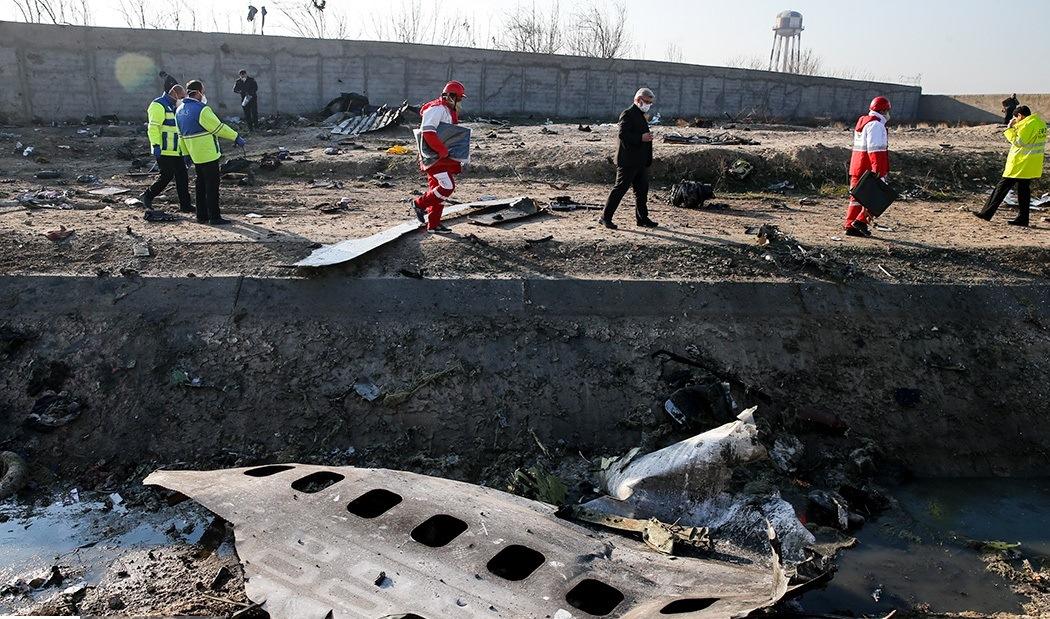 Vragdel fra det ukrainske passagerfly fra UIA. (Foto: Fars News Agency | CC 4.0)