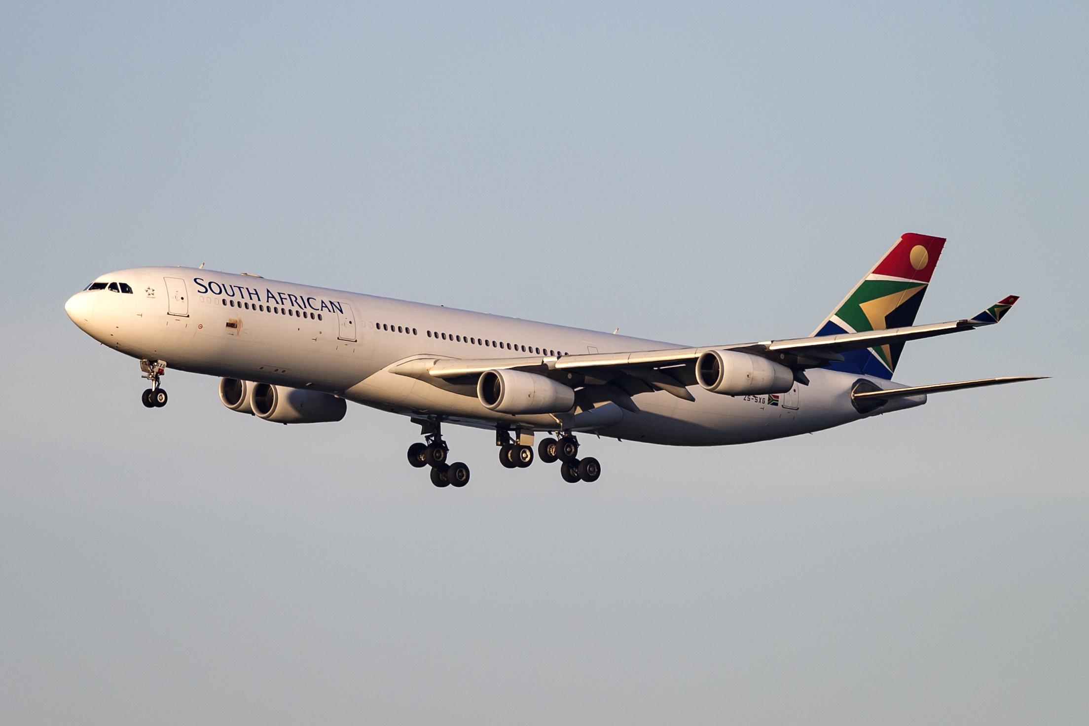 En Airbus A340-300 fra South African Airways. Foto: © Thorbjørn Brunander Sund, Danish Aviation Photo