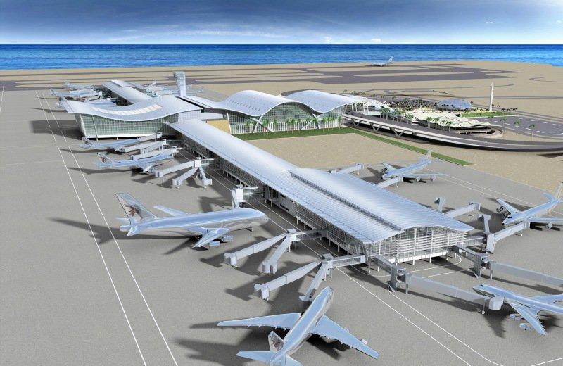 Skitse af den nye Heraklion International Airport ved Kasteli på Kreta. Foto: Greek Travel Pages