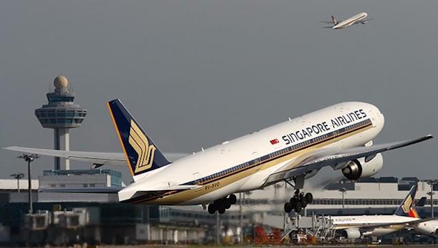 En Boeing 777-200ER fra Singapore Airlines. (Foto: SIA)