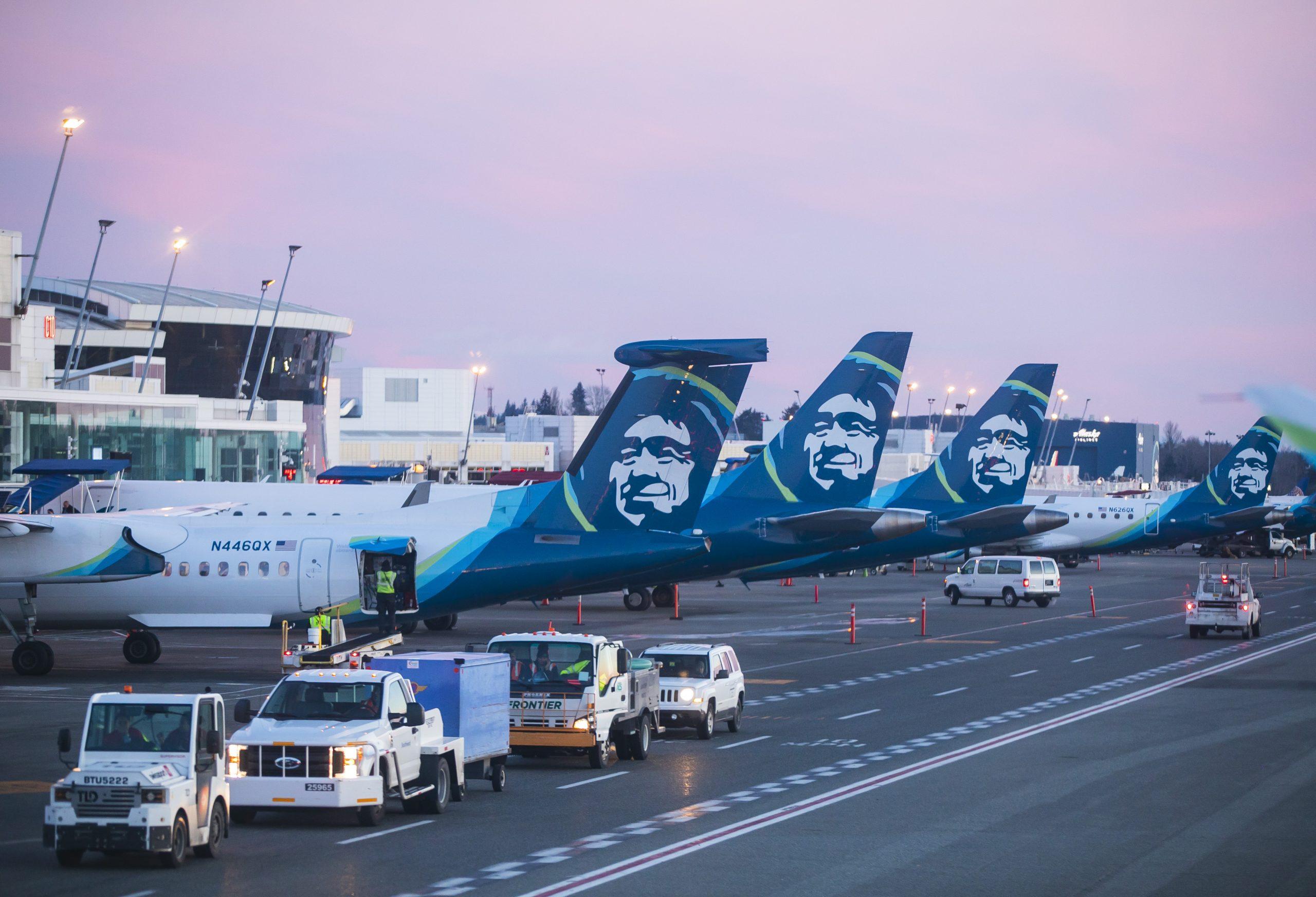 Fly fra det amerikanske selskab Alaska Airlines. Foto: Alaska Airlines