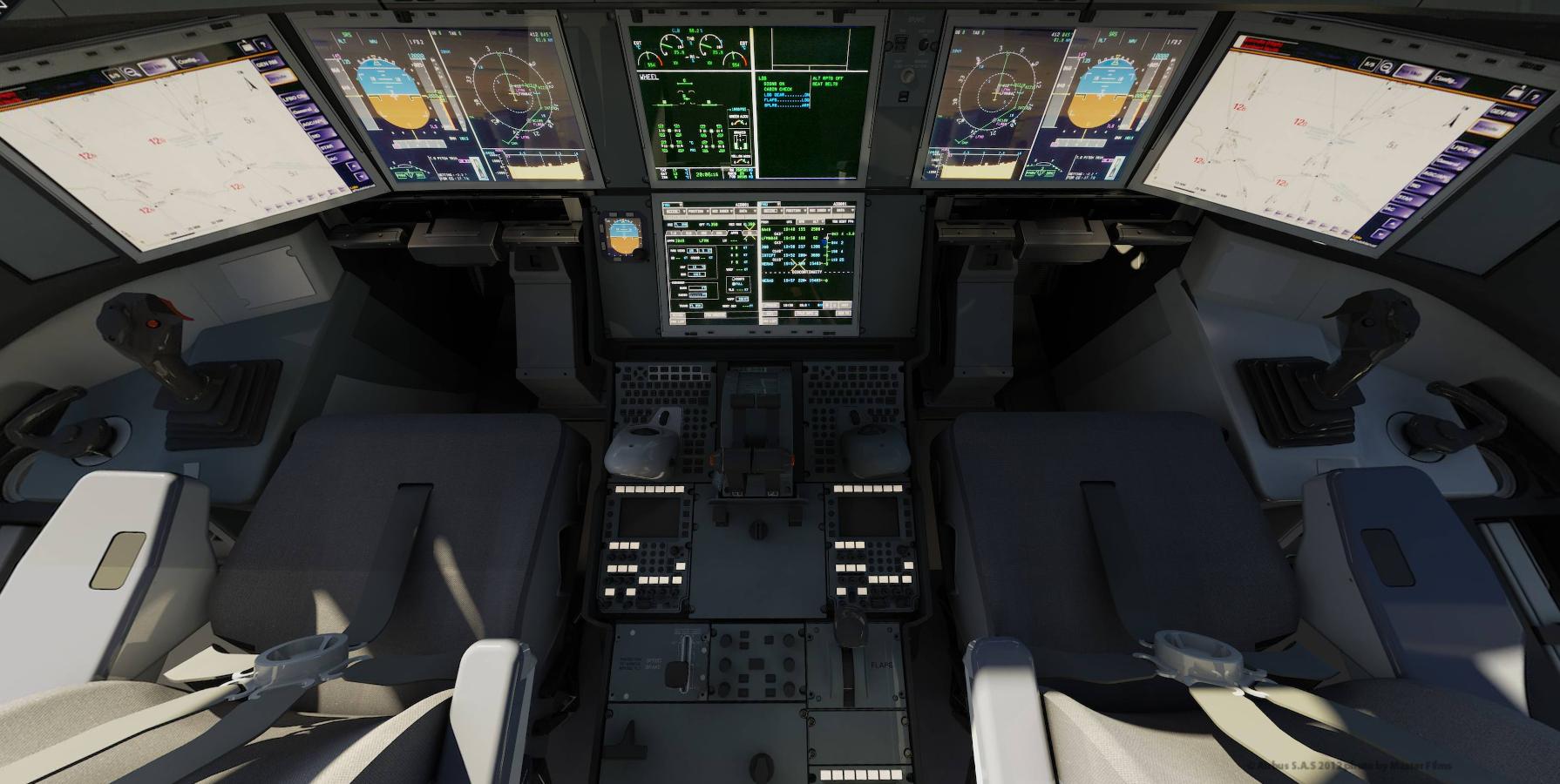 Cockpit i Airbus A350 (Foto: Airbus)