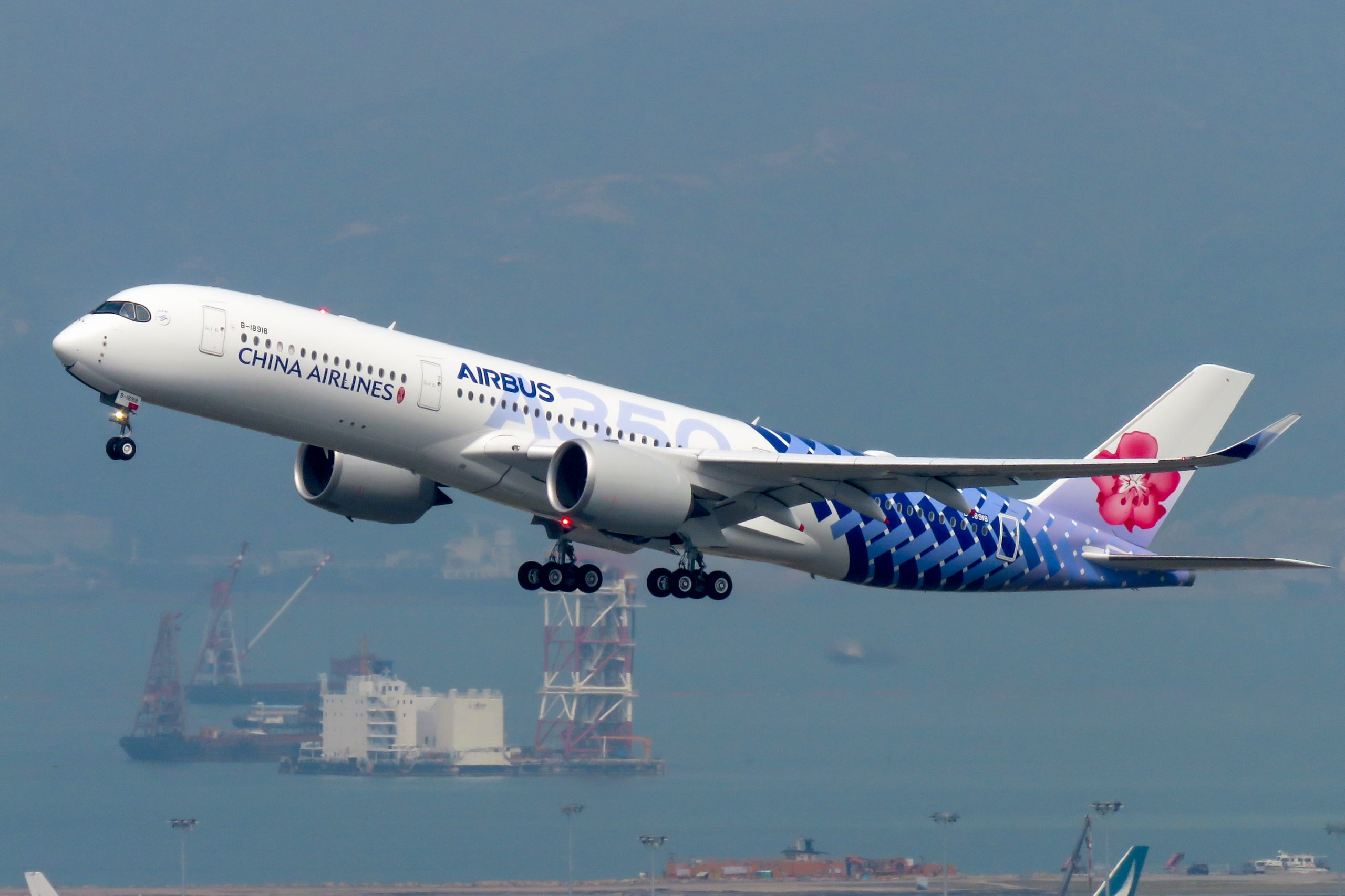 En Airbus A350-900 fra China Airlines. Foto: N509FZ, CC 4.0