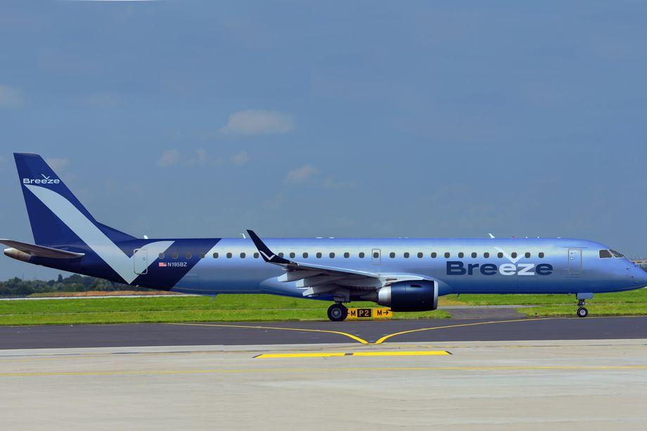 Navnet på David Neelemans nye lavprisflyselskab er Breeze Airways. Foto: Breeze Airways