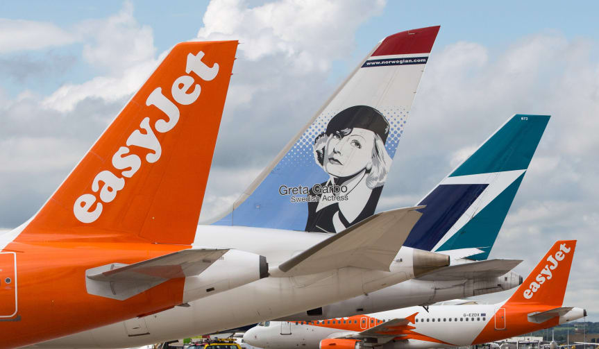 easyjet og Norwegian led de største kurstab på de europæiske aktiemarkeder. (Foto: Norwegian | PR)