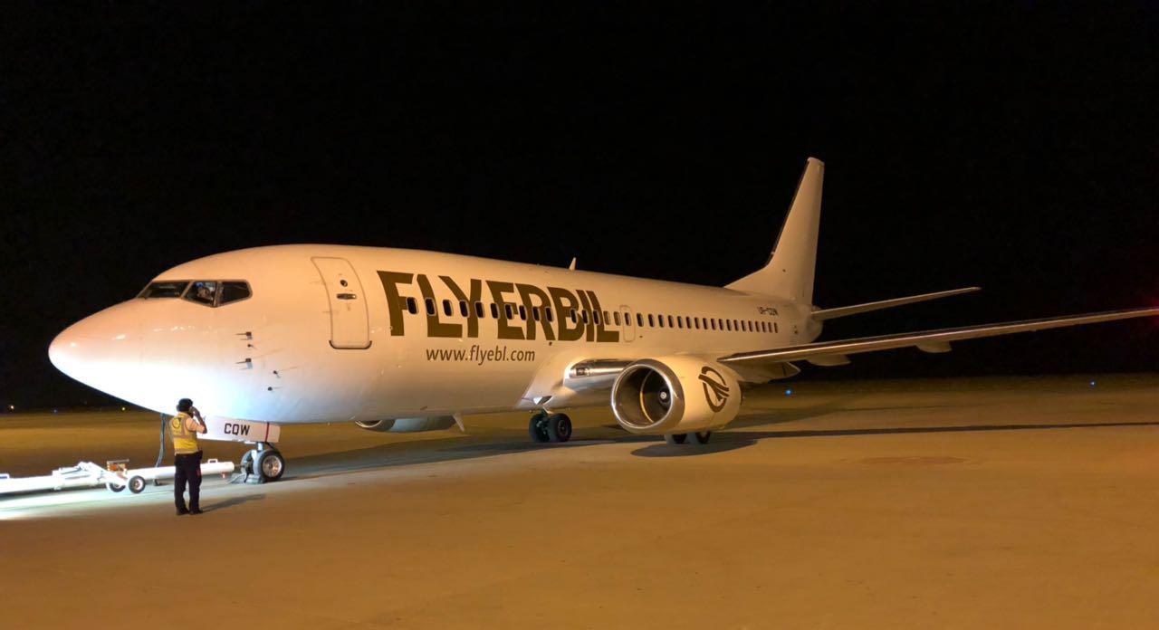 Boeing 737 fra FlyErbil opereret af UR Airlines. (Foto: FlyEribil)