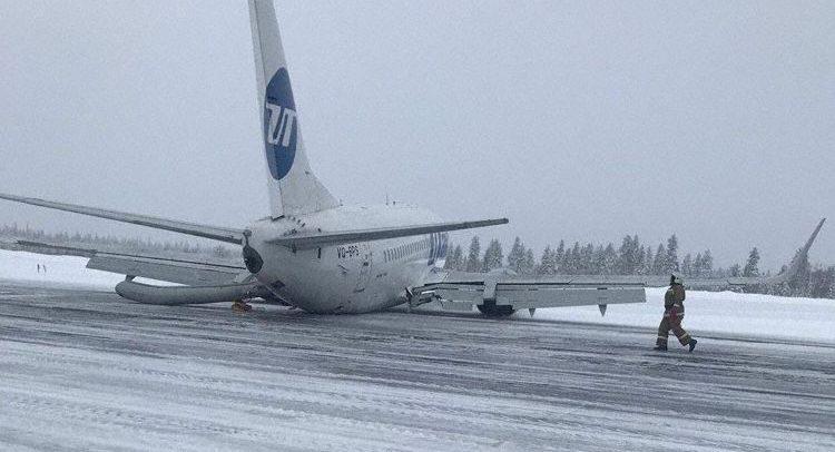 En Boeing 737 fra UTair forulykkede ved landing i Usinsk. Foto: The Aviation Herald