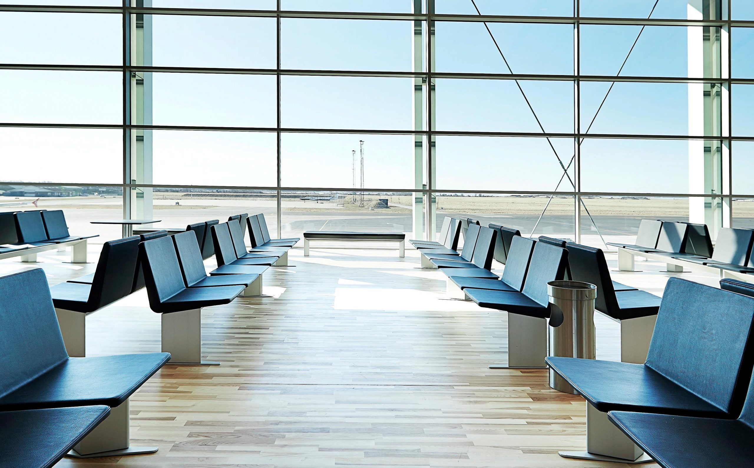 Der er tomt i Aalborg Lufthavn under coronakrisen. (Foto: Aalborg Lufthavn | PR)