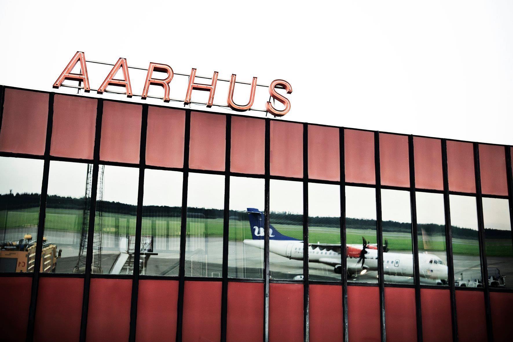 Terminalbygningen i Aarhus Lufthavn. (Foto: Aarhus Airport | Facebook)