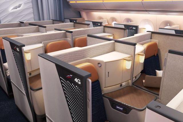 Den nye Business Class på Aeroflots A350-900. Foto: Aeroflot