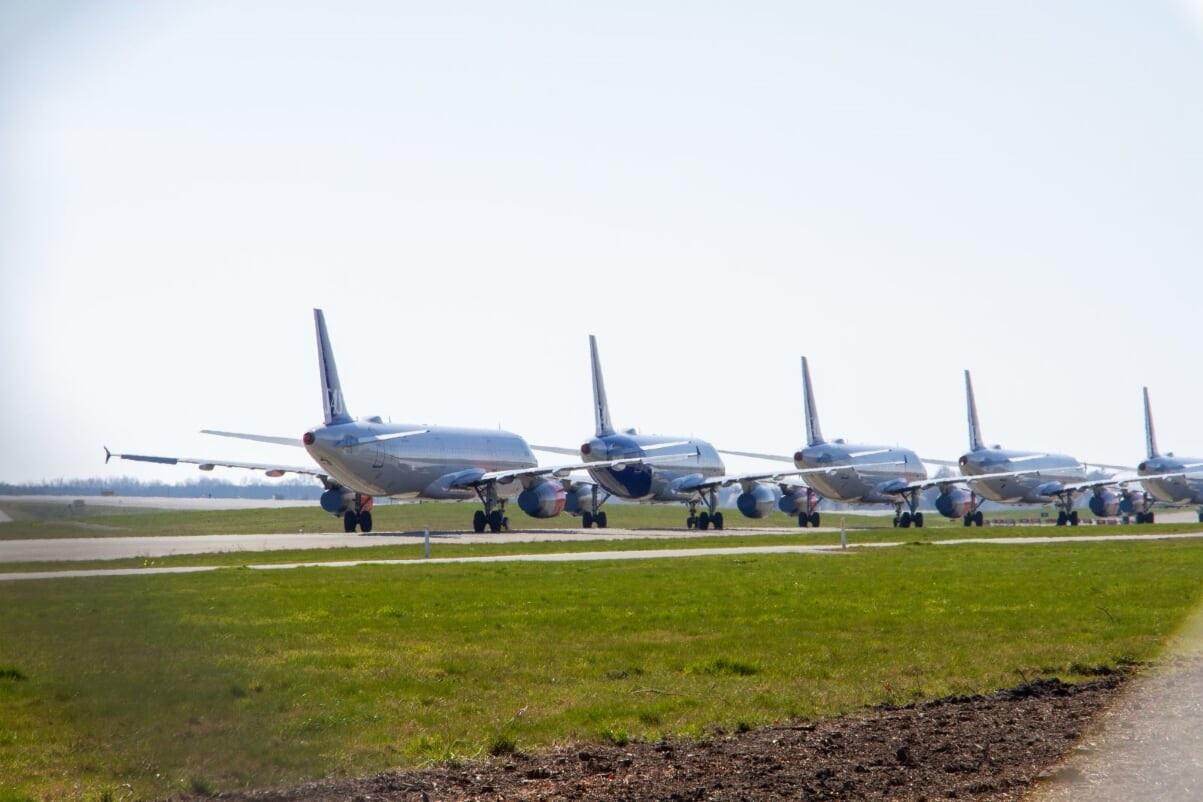 Parkerede SAS-fly i Københavns Lufthavn. (Foto: Jan Eliassen | Naviair)