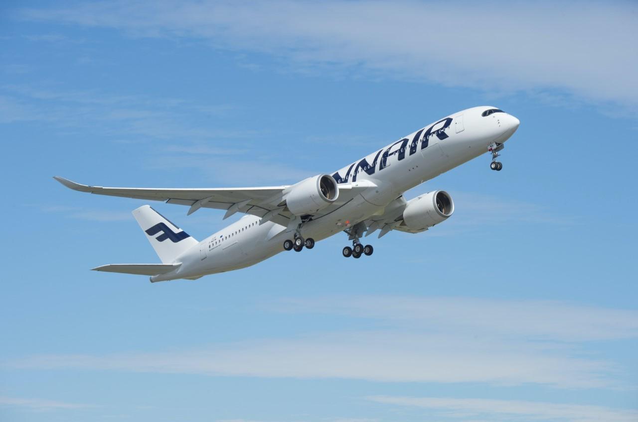 En Airbus A350 XWB fra Finnair. Foto: Airbus