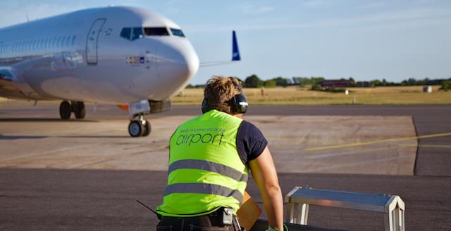 Lufthavnen i Ängelsholm. Foto: Ängelsholm Helsingborg Airport
