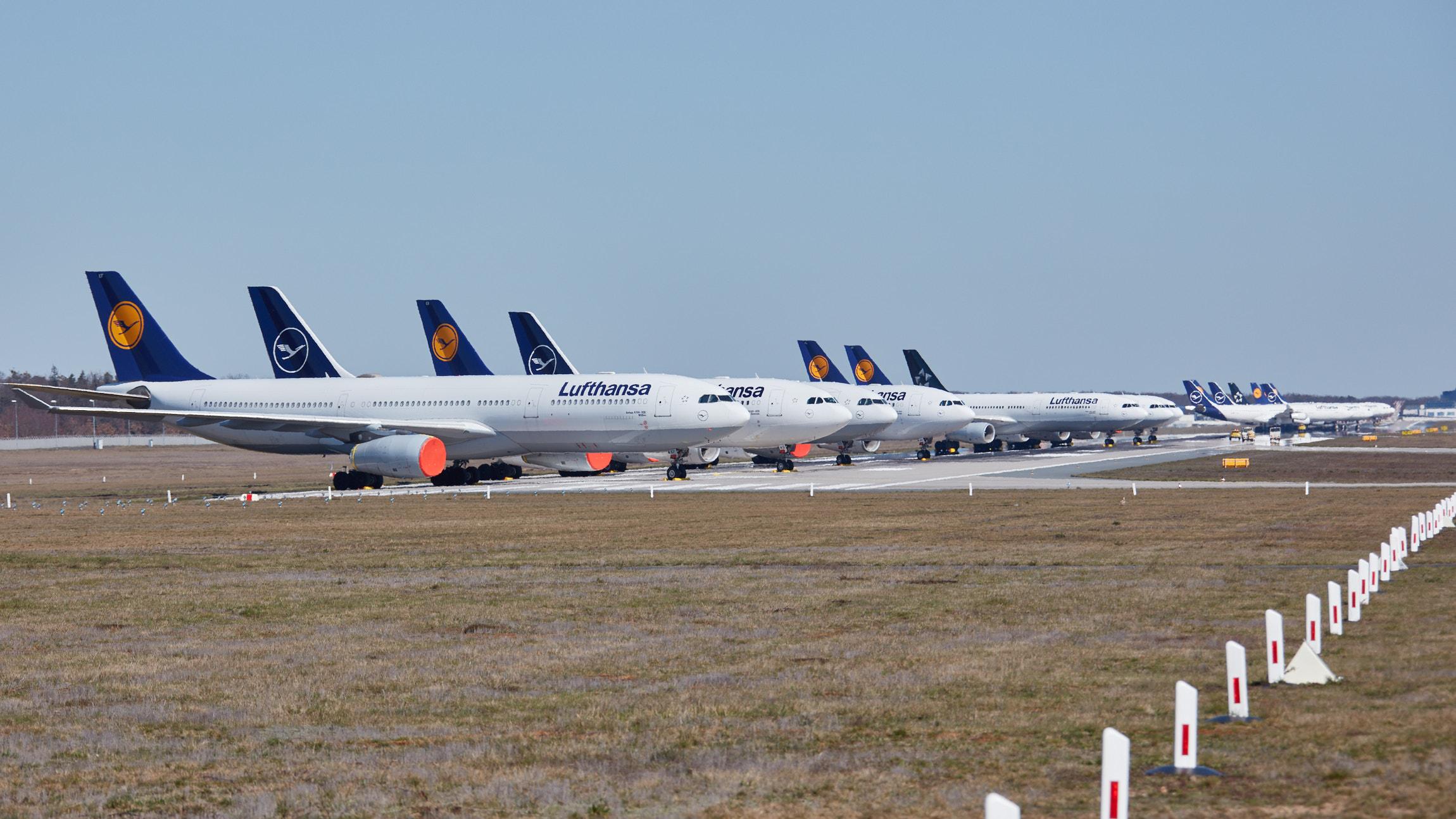 Parkerede Lufthansa-fly. (Foto: Lufthansa | PR)