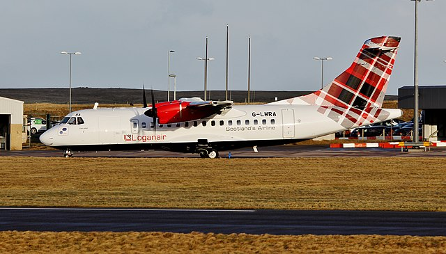 ATR 72 fra Loganair. Foto: Wikimedia Commons