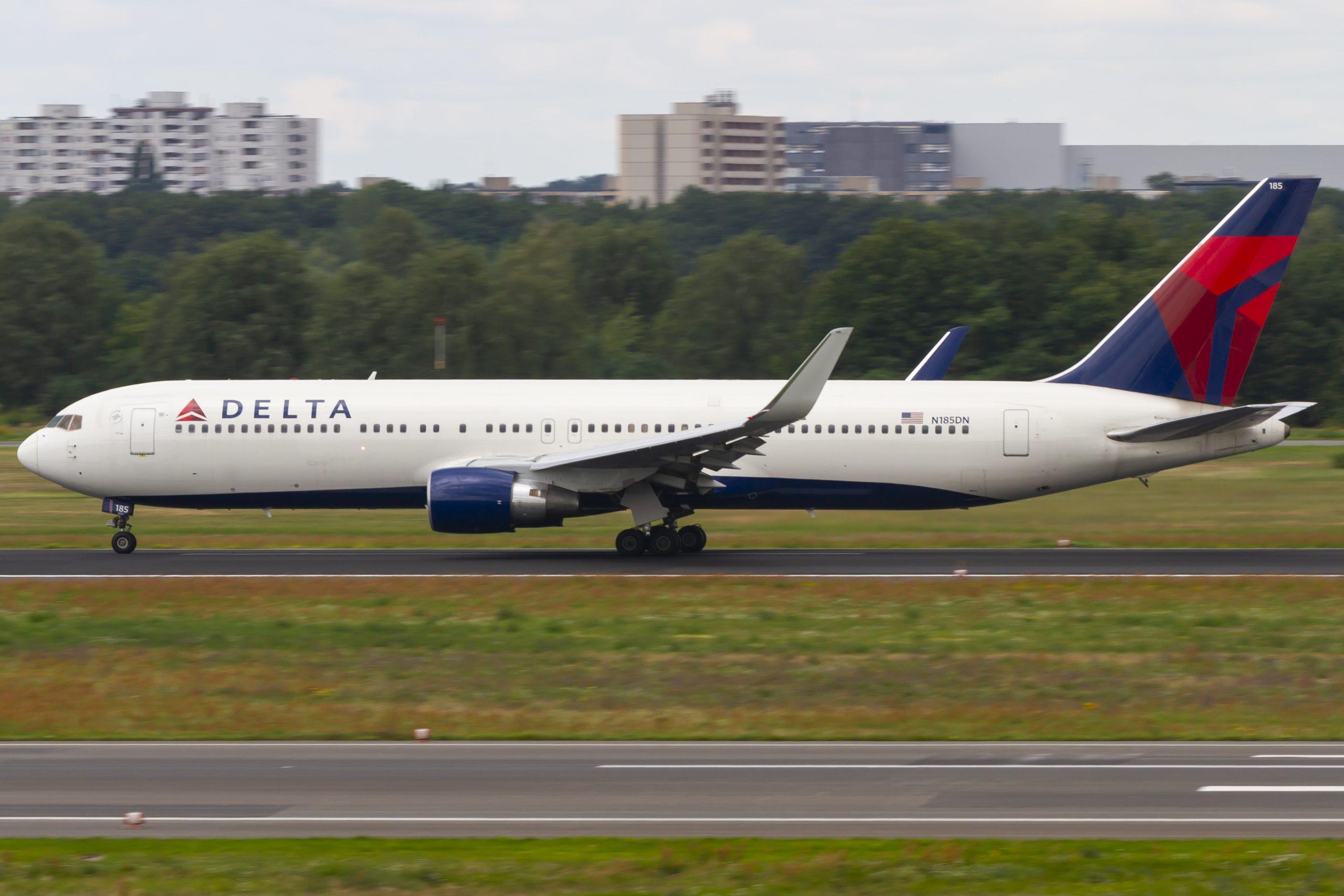 En Boeing 767-300ER fra Delta Air Lines. Foto: © Thorbjørn Brunander Sund, Danish Aviation Photo