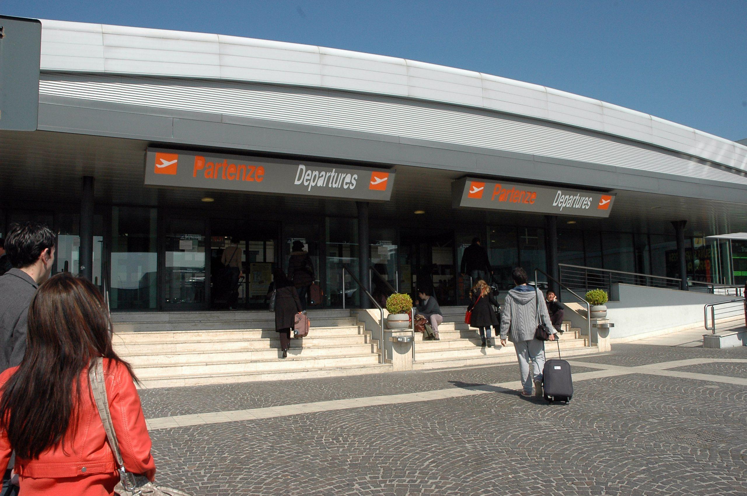 Indgangen til Roms Ciampino-lufthavn. Foto: Aeroporti di Roma