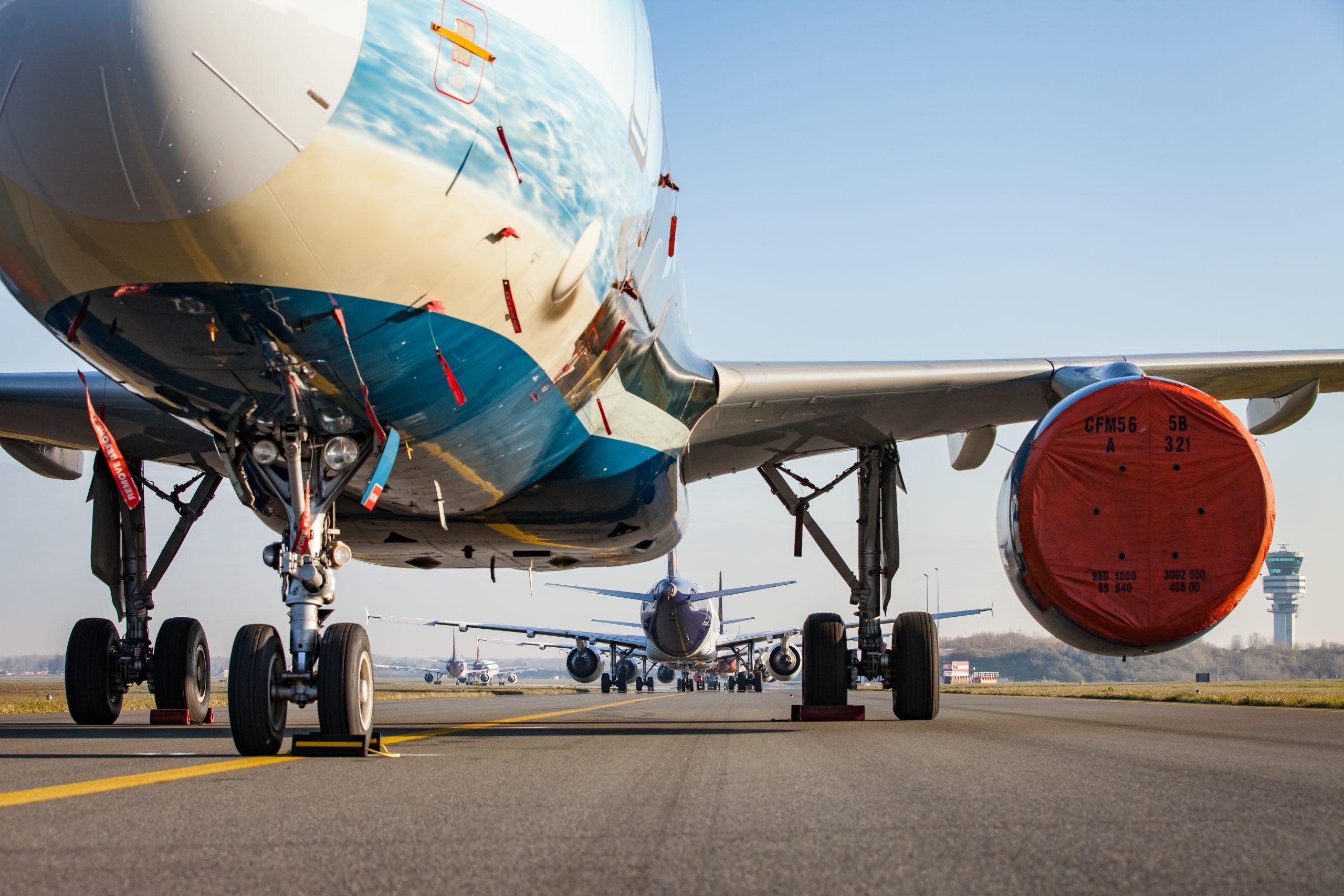 Fly fra Brussels Airlines parkeret i Zaventem-lufthavnen ved Bruxelles. (Foto: Brussels Airlines | PR)