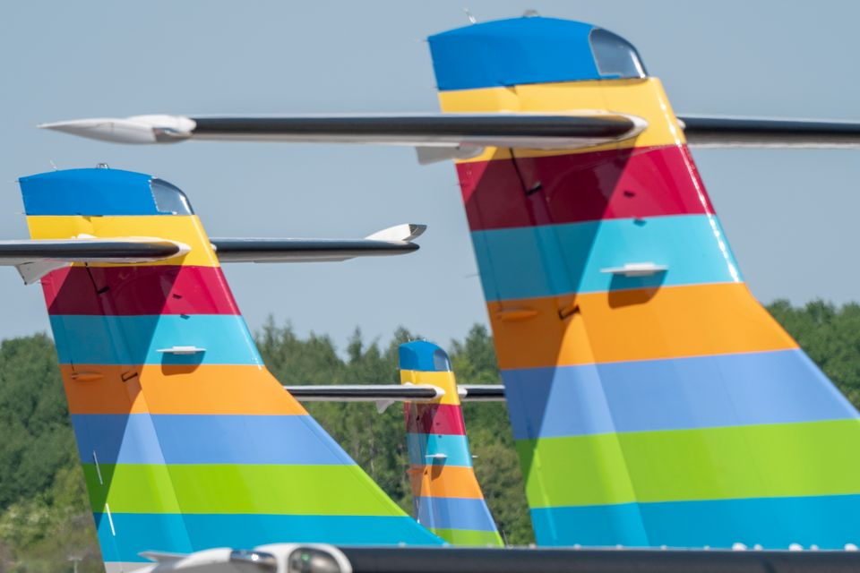 Fly fra BRA parkeret i Stockholm-Bromma. (Foto: BRA | PR)