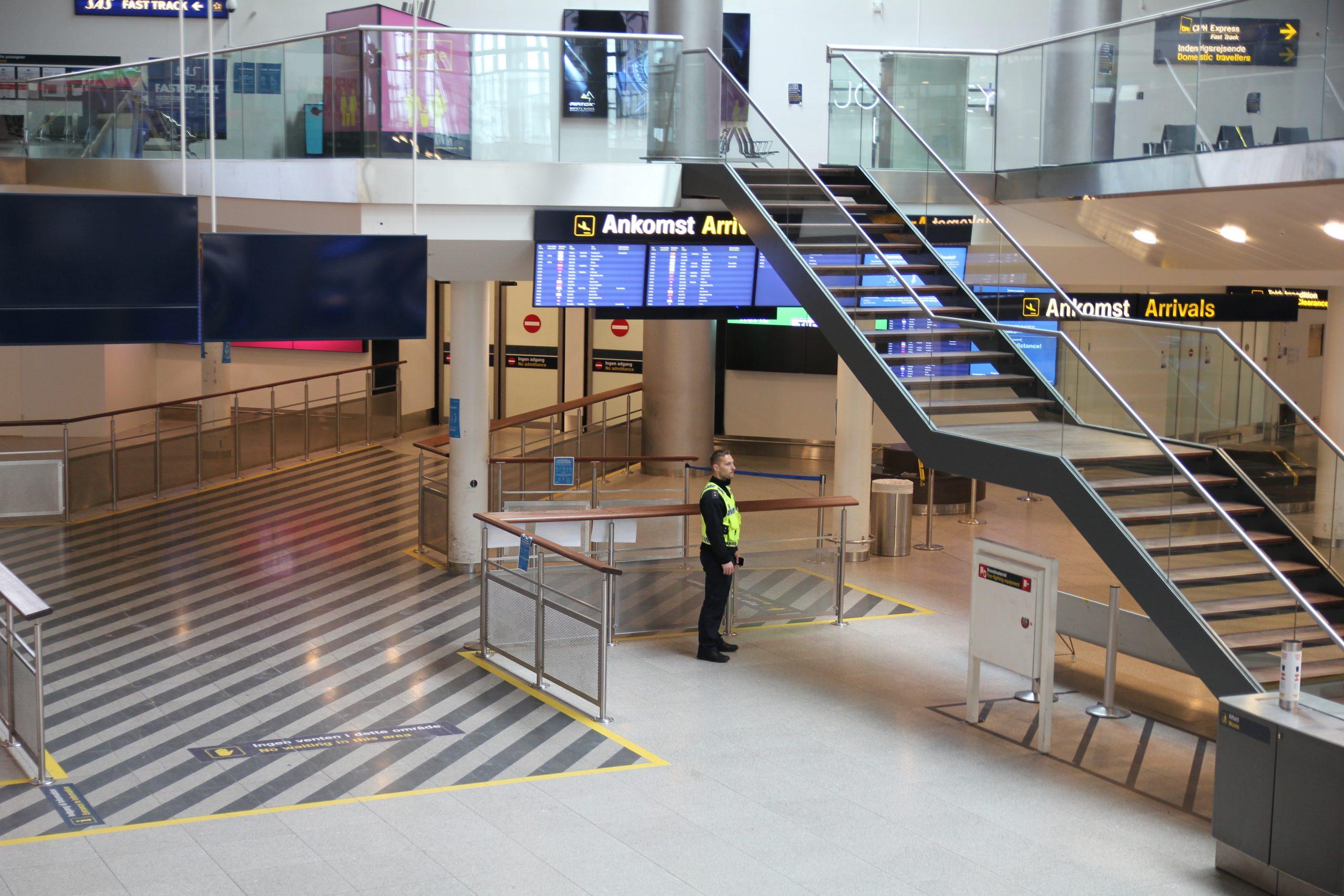 En tom Terminal 3 i Københavns Lufthavn. (Foto: CPH | PR)