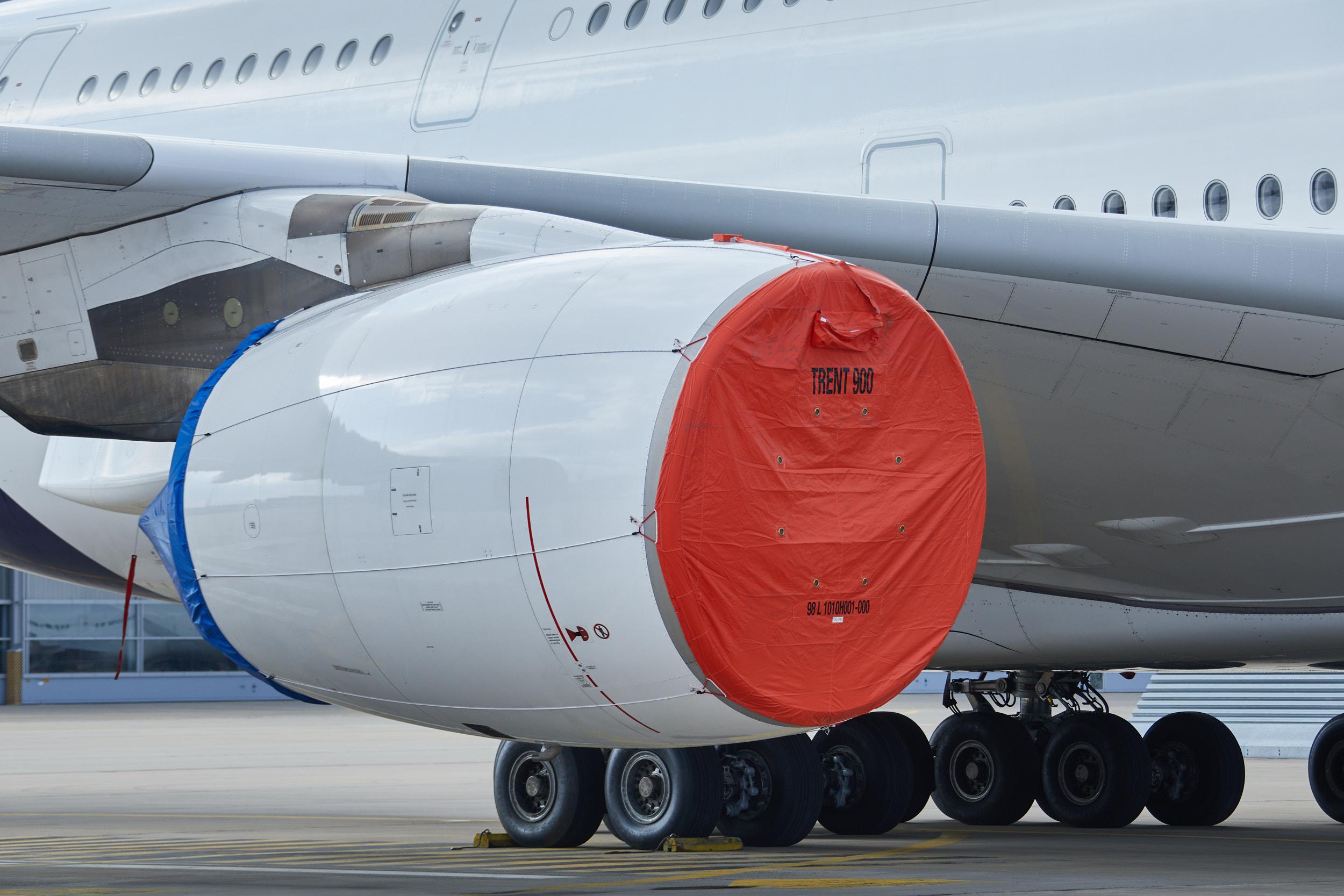 Lufthansa A380 parkeret i Frankfurt Airport. (Foto: Lufthansa | PR)