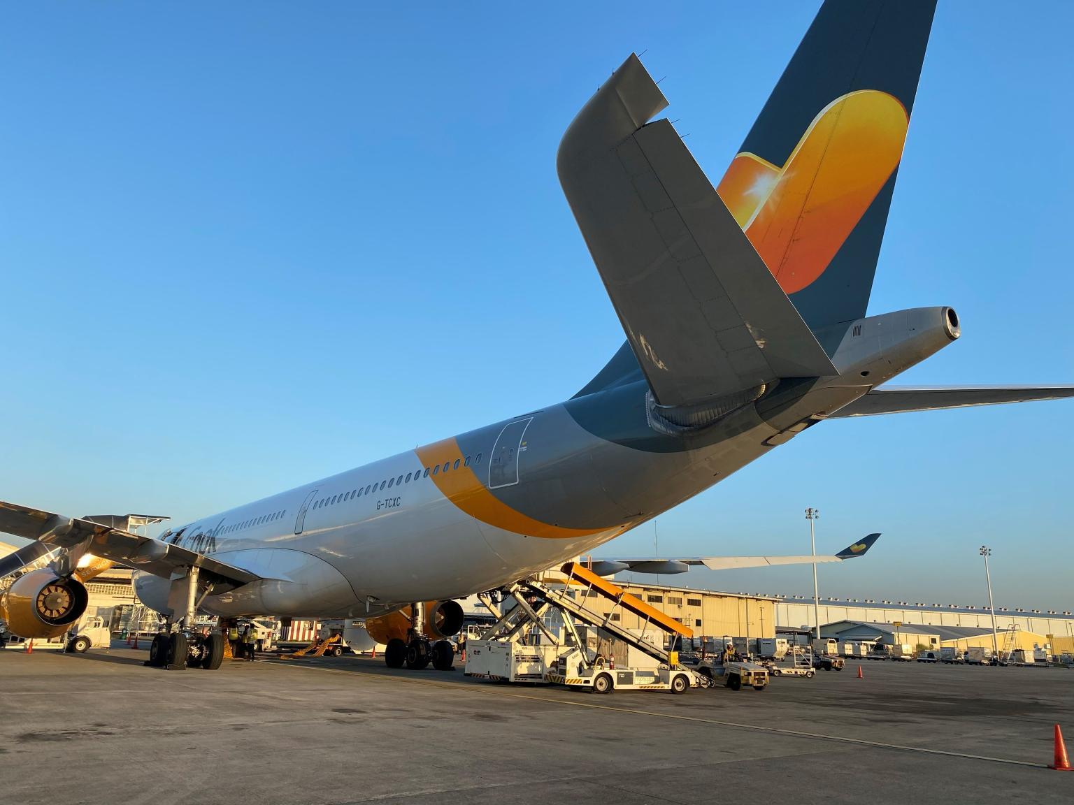 En Airbus A330-200 hentede danskere hjem fra Filippinerne. (Foto: Sunclass Airlines)