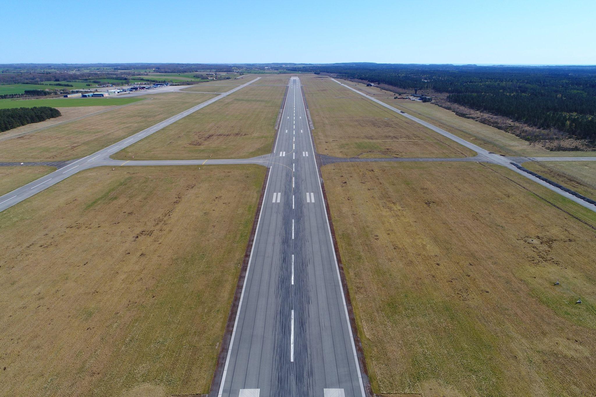 Bane 10/28 i Aarhus Lufthavn. (Foto: Aarhus Airport | Facebook)