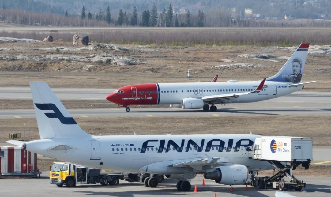 Fly fra Finnair og Norwegian. (Foto: Lentoposti.fi)