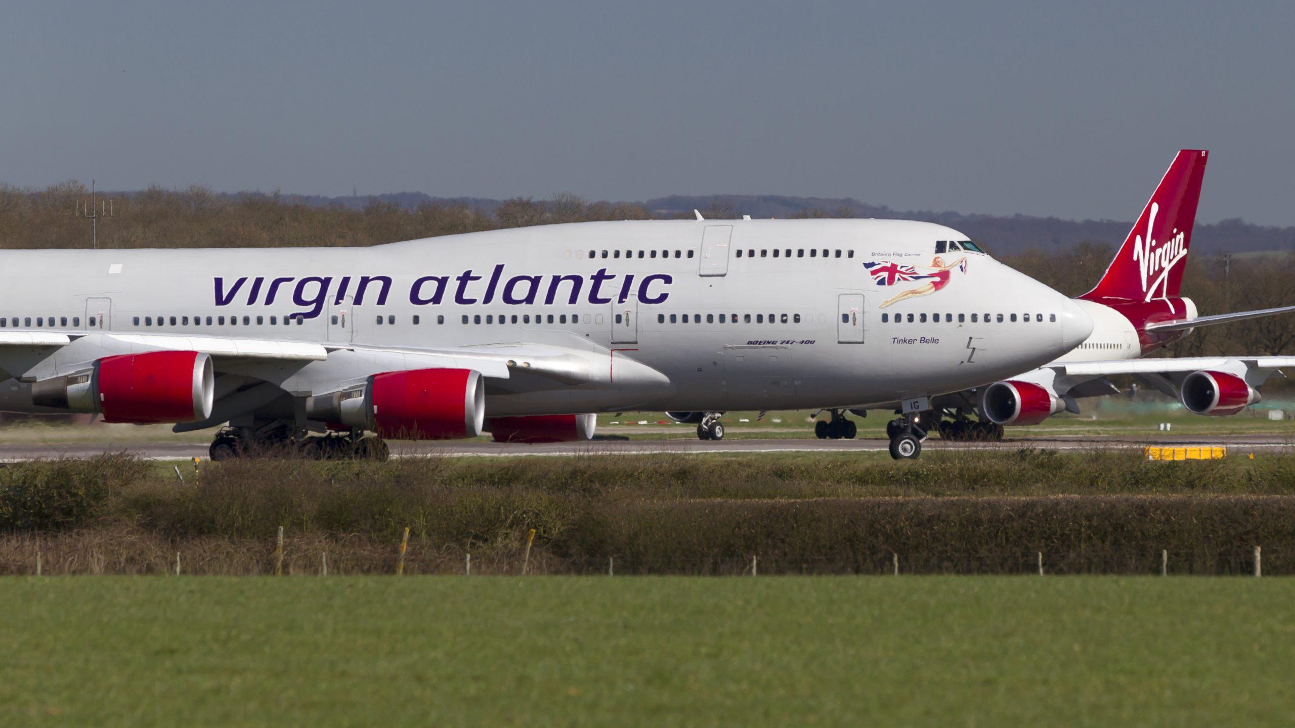 To Boeing 747-400 fra Virgin Atlantic i London Gatwick Airport. Foto: © Thorbjørn Brunander Sund | Danish Aviation Photo)
