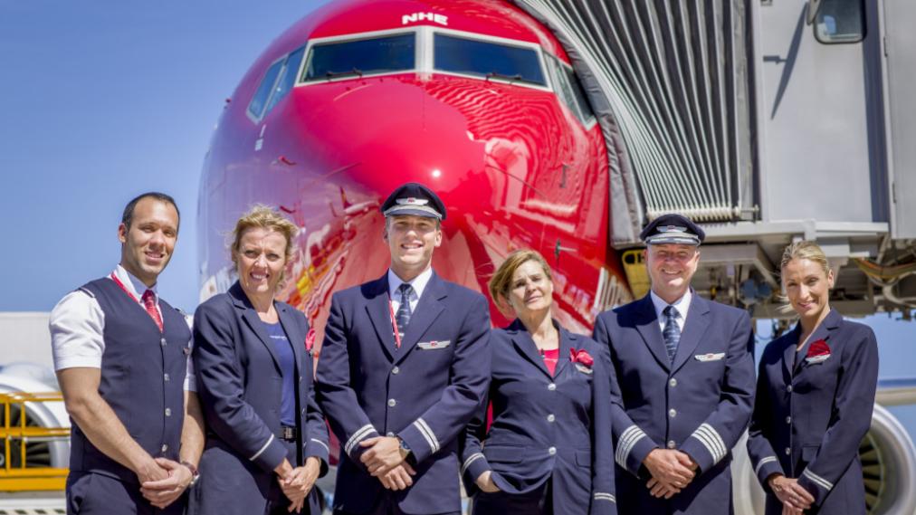 Besætning på Norwegian Boeing 737-800 i Spanien. (Arkivfoto: Norwegian | PR)