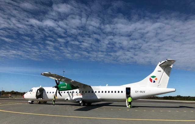 ATR 72-600 fra DAT i Midtjyllands Lufthavn. (Foto: Midtjyllands Lufthavn | PR)