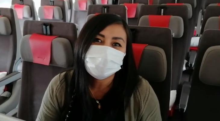 Passager med ansigtsmaske hos Iberia. (Foto: Iberia | PR)