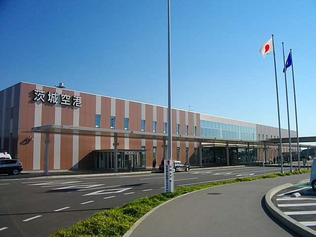Ibaraki Lufthavn ligger 85 km nordøst for Tokyo. (Foto: Wikimedia Commons)